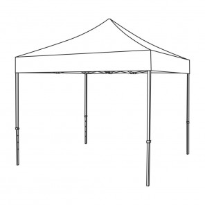 Pop Up Gazebo Canopy - 3m x 3m (White)